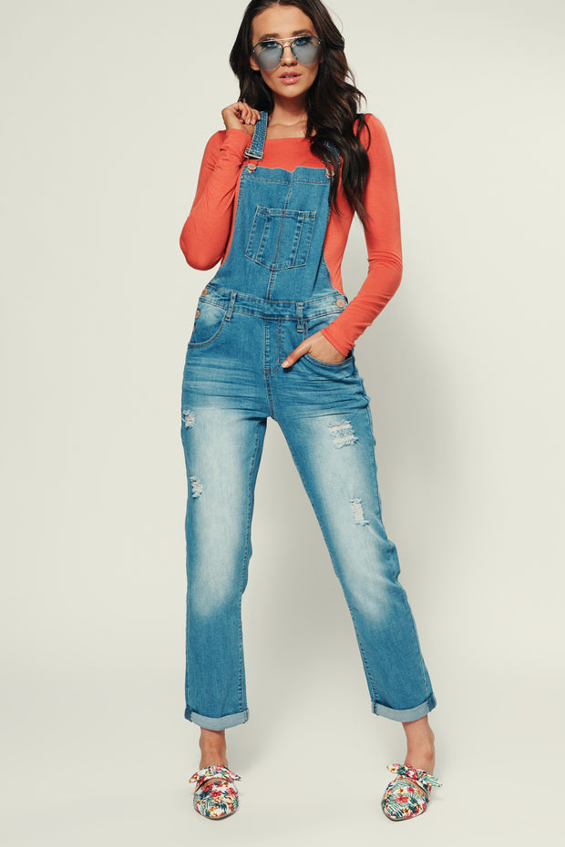 Zoey Boyfriend Fit Overalls (Medium) - NanaMacs