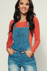 Zoey Boyfriend Fit Overalls (Medium)