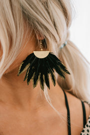 Bad Babe Dangle Earrings (Black)