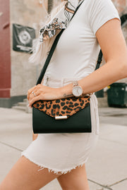 Louder Than Words Faux Leather Purse (Leopard Brown) - NanaMacs