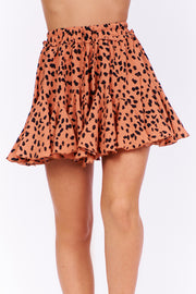 Get On My Level Ruffle Skort (Coral)