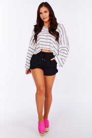 Easily Mistaken Striped Sweater (Ivory/Navy)