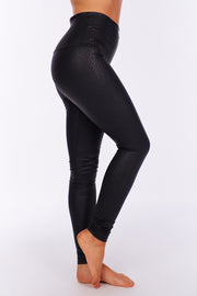Walking On The Wild Side Snake Skin Leggings (Black)