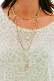Don't Doubt Me Layered Necklace (Antique Gold) - NanaMacs