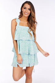 Daisy For Days Ruffle Dress (Mint) - NanaMacs