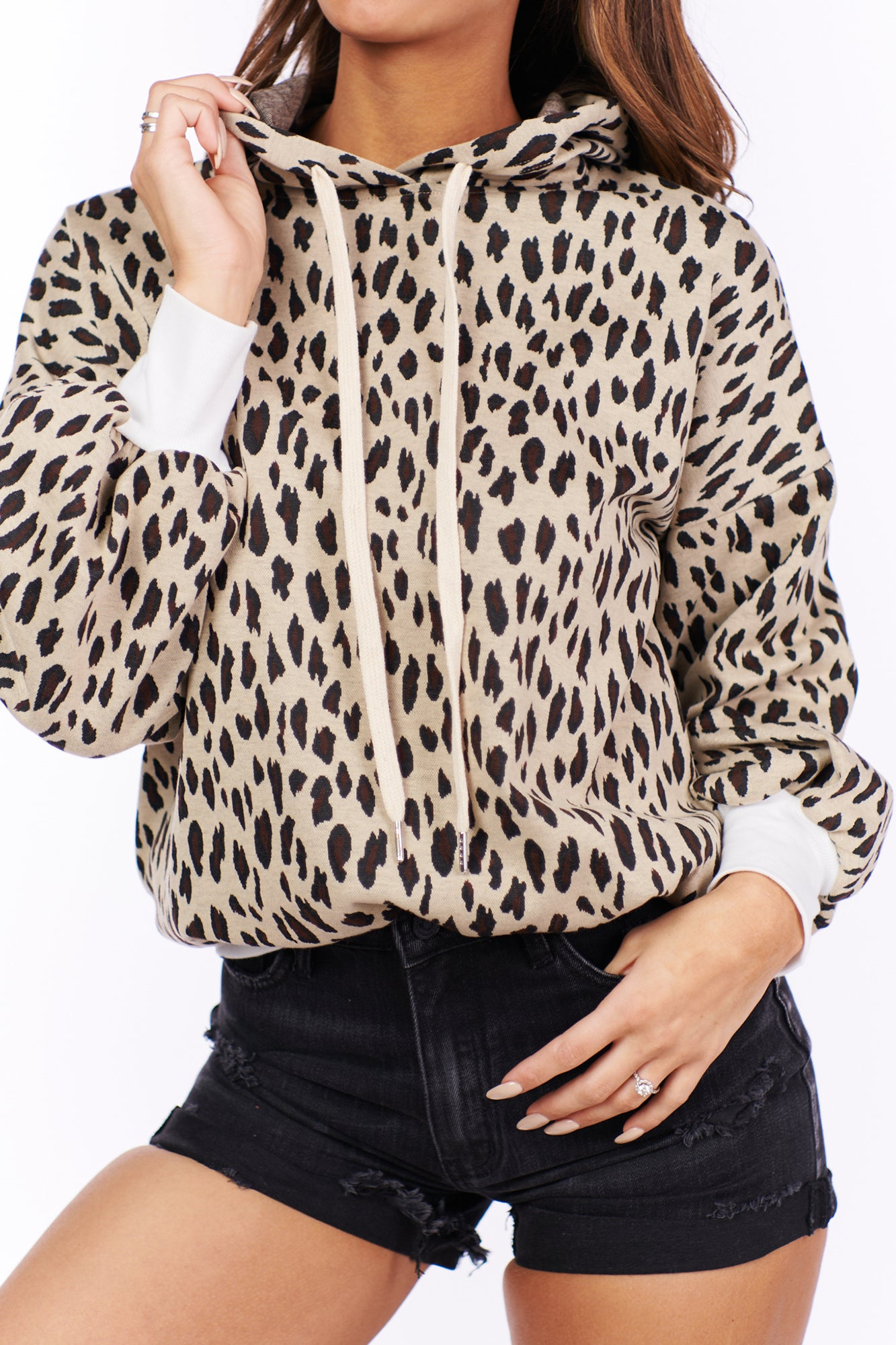 As Wild As They Come Leopard Print Hoodie (Taupe)