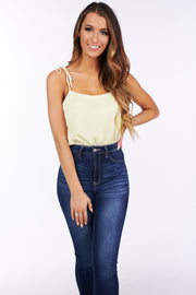 Together For Now Tie Strap Bodysuit (Cream) - NanaMacs