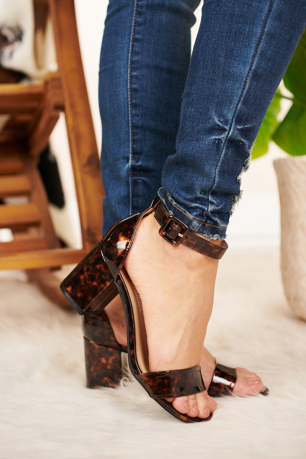 My Best Life Tortoise Heels (Brown) - NanaMacs