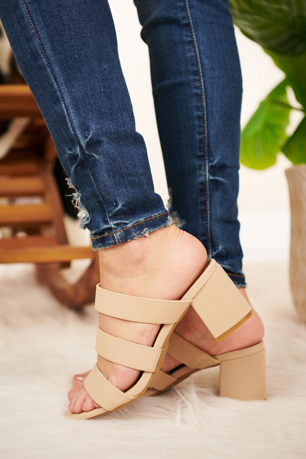 Breathe Again Strappy Heel (Nude) - NanaMacs