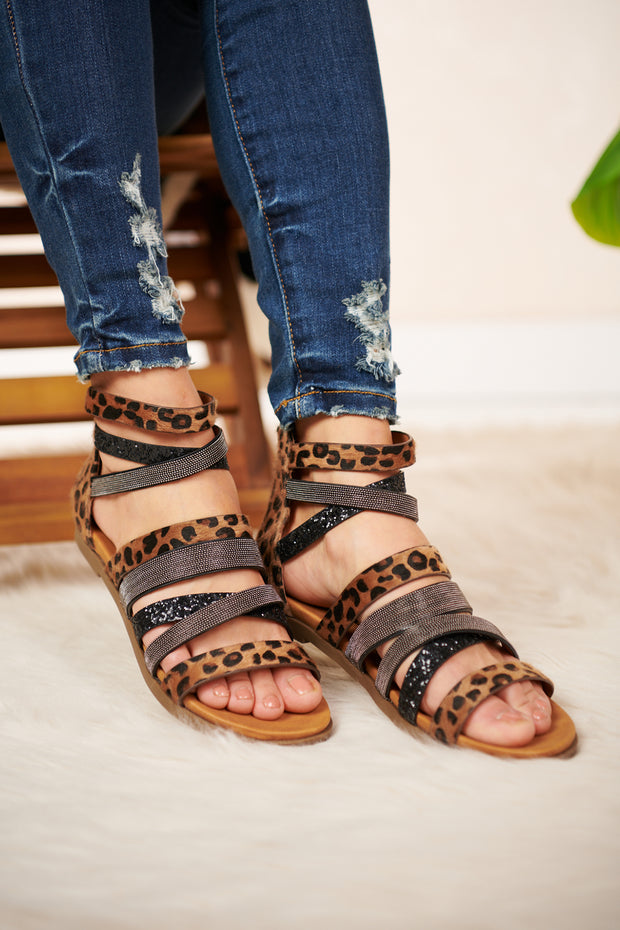 Live For It Cheetah Print Strappy Sandal (Tan) - NanaMacs