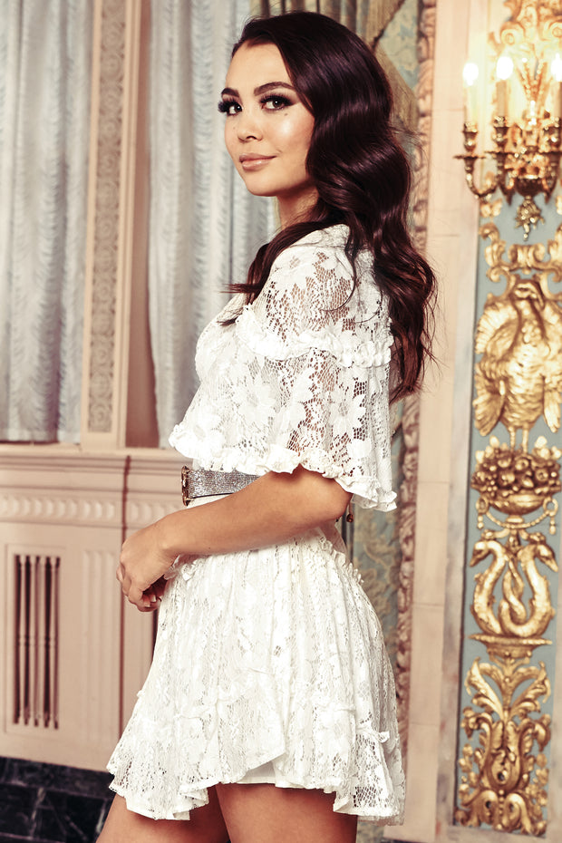 Lana Lace Boho Dress (Ivory) - NanaMacs