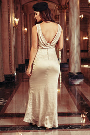 Fancy That Silky Sleeveless Dress (Champagne)