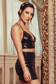 My Kind Of Scene Sequin Bralette (Black) - NanaMacs