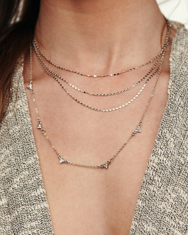 Suki Multi Layer Necklace (Silver)