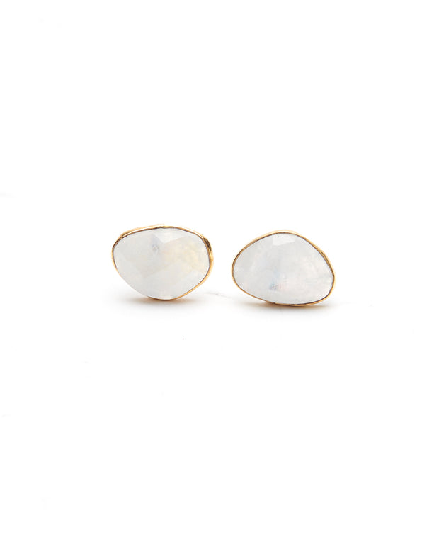 Sierra Stud Earrings (Moonstone) - NanaMacs