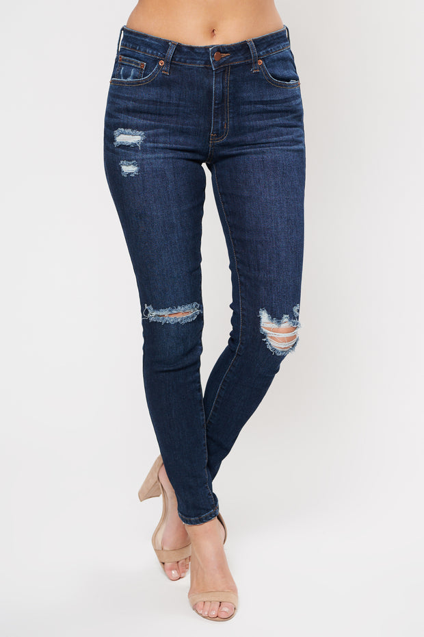Layover High Waisted Skinny Jean (Dark Wash)