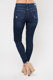 Layover High Waisted Skinny Jean (Dark Wash) - NanaMacs