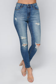 Rumor Has It High Waisted Jeans (Dark Wash) - NanaMacs