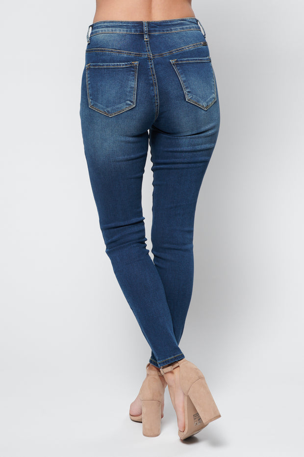 Whitley High Waisted KanCans (Dark Wash) - NanaMacs