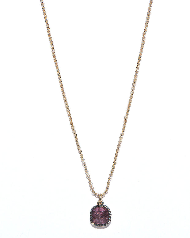 Elizabeth Pendant Necklace (Purple) - NanaMacs