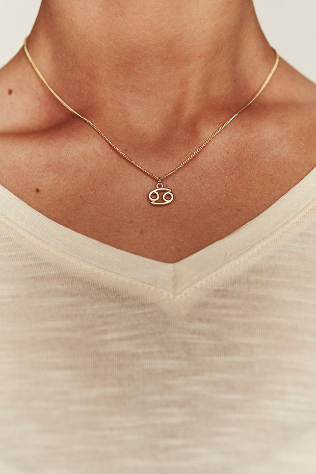 Cancer Charm Necklace (Gold) - NanaMacs