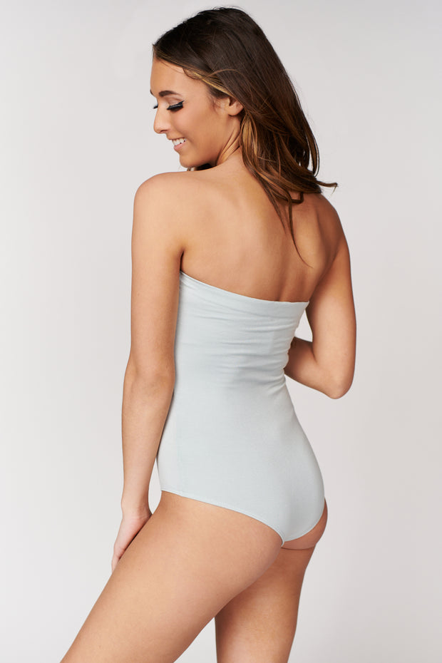 First Things First Strapless Bodysuit (New Sage) - NanaMacs