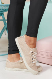 Make Your Own Way Slip On Sneakers (Beige) - NanaMacs