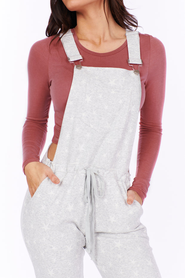 Following A Day Dream Overalls (Grey/White Star) - NanaMacs