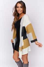 In My Thoughts Color Block Cardigan (Multi)
