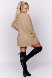 Be Your Best Dolman Sleeve Cardigan (Taupe) - NanaMacs