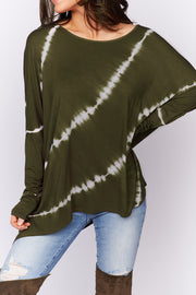 All For Me Tie Dye Top (Olive) - NanaMacs