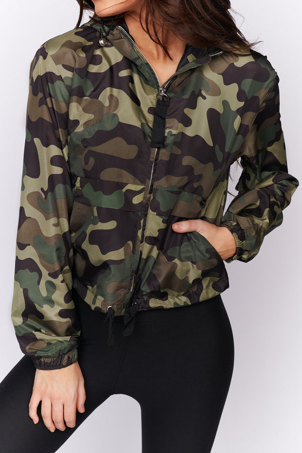 Ready For It Camo Hooded Jacket (Green)