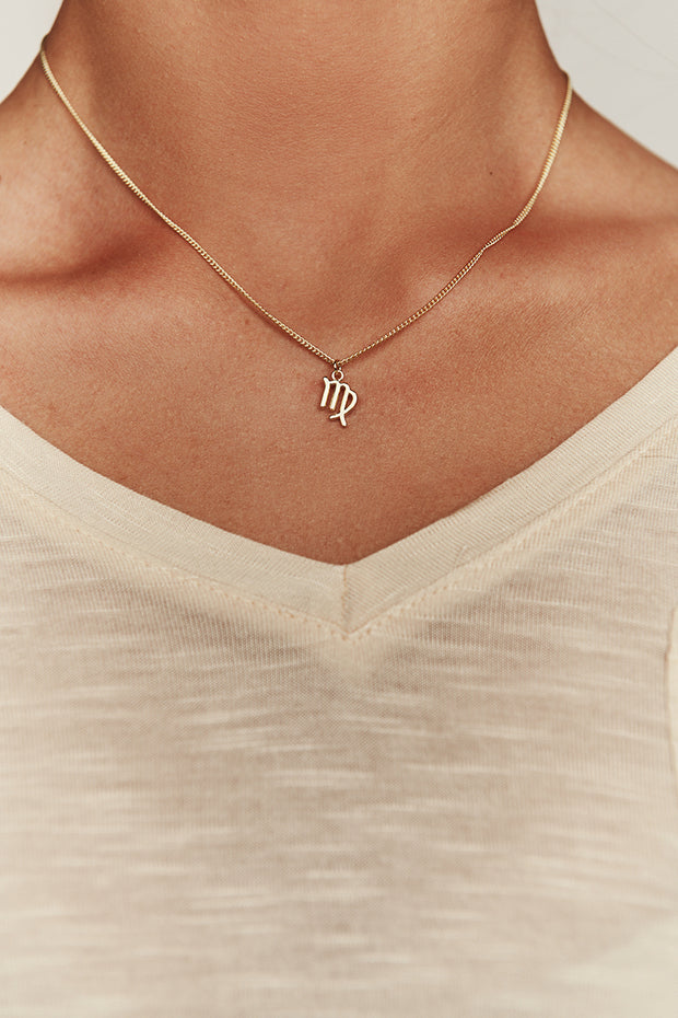 Virgo Charm Necklace (Gold)