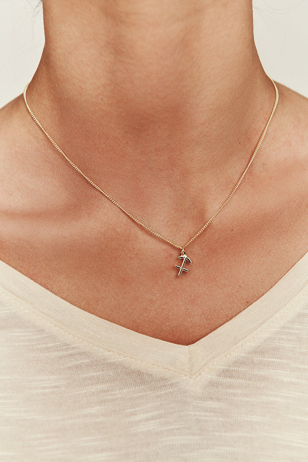 Sagittarius Charm Necklace (Gold) - NanaMacs