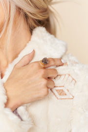 Wanderlust Statement Ring (Grey)