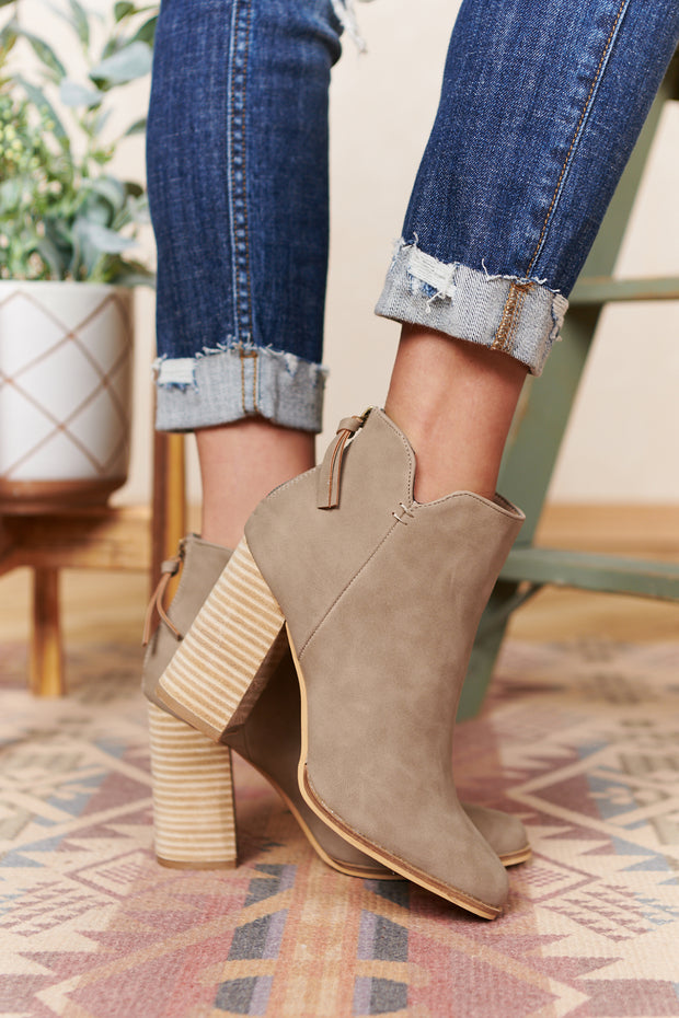 Your Honey Faux Leather Booties (Clay)
