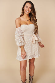 Make Me Rosy Floral Dress (Cream)