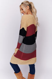 For The Look Oversized Knit Cardigan (Multi) - NanaMacs