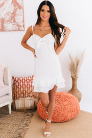Calm Bliss Woven Dress (Off White) - NanaMacs