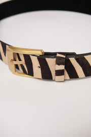 Wildly Wonderful Belt (Vanilla Zebra) - NanaMacs