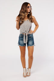 Just The Sweetest Polka Dot Tank Top (Navy Multi)