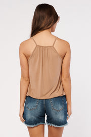Making A Statement Surplice Top (Camel)