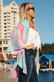 Refuse To Let Go Kimono (Grey/Mint Multi)