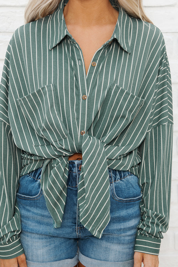 Trinity Button Up Top (Sage/Cream) - NanaMacs