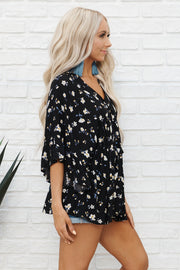 Fresh Bloom Top (Black)
