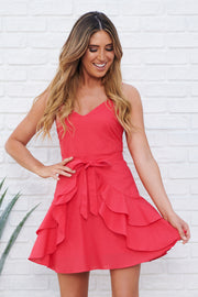 Girl Time Dress (Coral) - NanaMacs