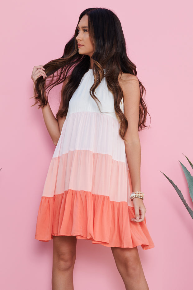 February Love Dress (Coral)