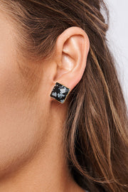 Logan Stud Earrings (Black)