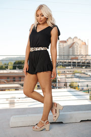 All The Fame Romper (Black)