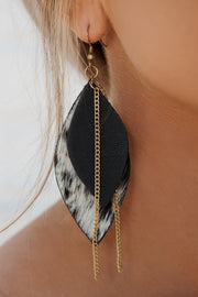 Don't Be Rude Drop Earrings (Black/White) - NanaMacs